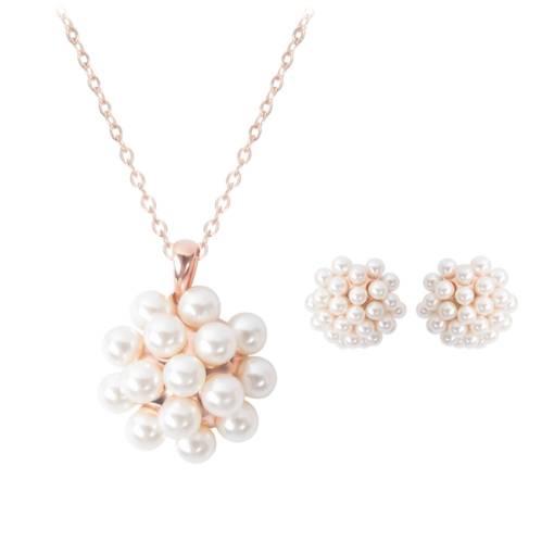 Ball Pearl Alloy Two Piece Jewelry Sets