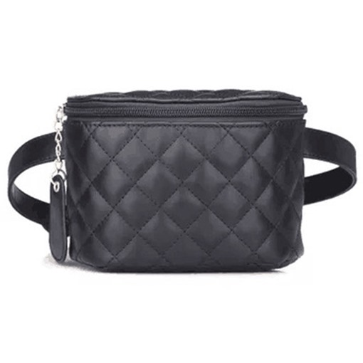 Mini Style Ling Plaid PU Women's Waist Bag