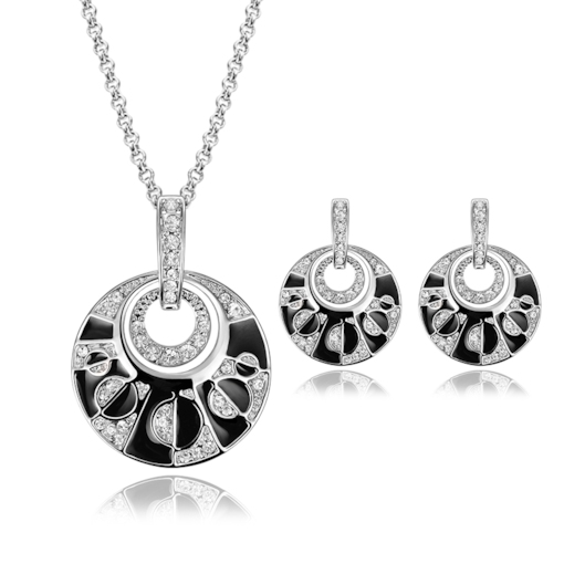 Hollow Out Diamante Unique Alloy Jewelry Sets