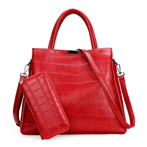 Elegant Crocodile Grain 2 Pieces of Bag Sets