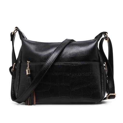 Leisure Crocodile Grain Tassel Pendant Cross Body