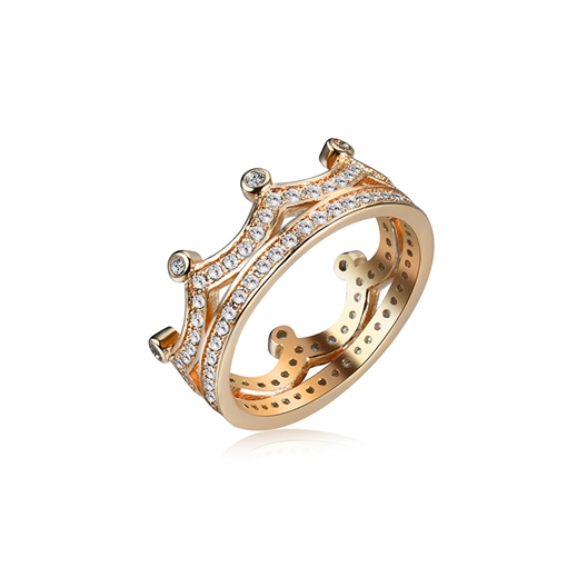 Personalized Crown Diamante Double Rings