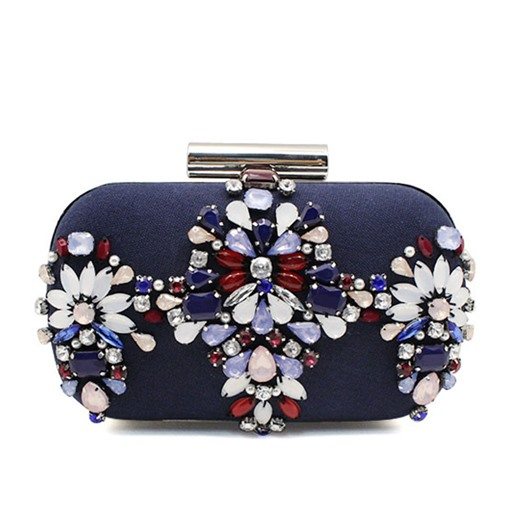 Elegant Manual Nail Bead Chain Clutch Bag