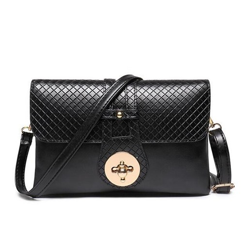 Envelope Shape Crocodile Grain Cross Body