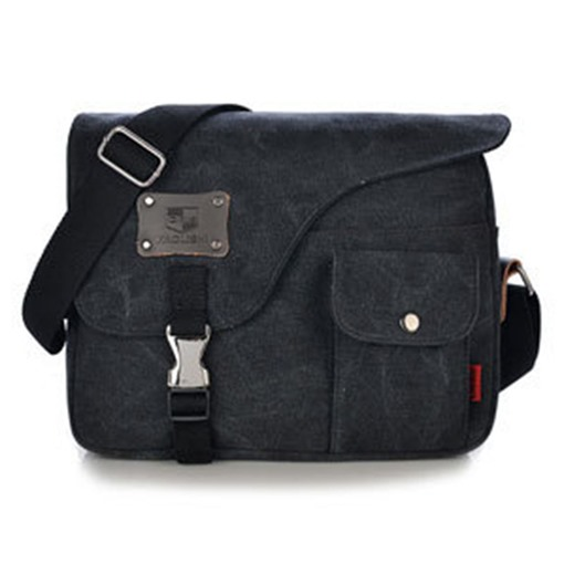 Casual Square Shape Men's Canvas Bag