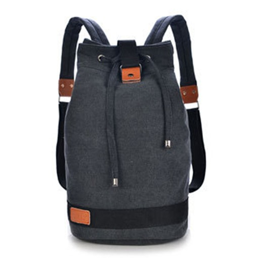 Vertical Bucket Shape With Drawstring Backpack