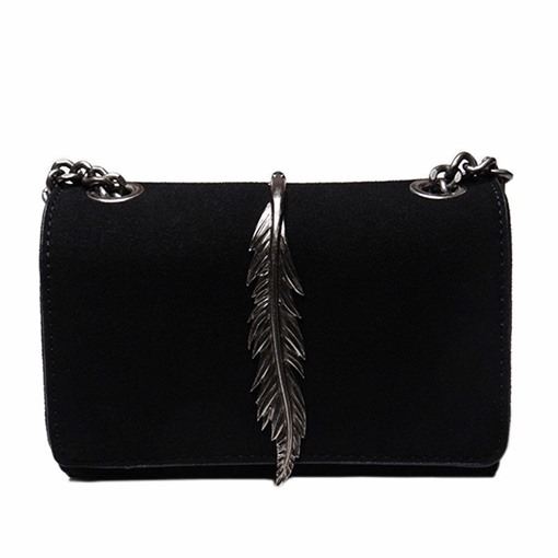 Unique Metal Leaves Decoration Chain Cross Body