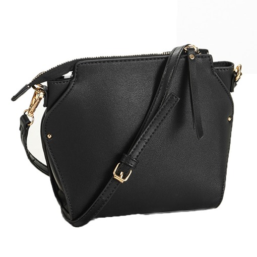 Unique Pure Color Shell Shape Zipper Cross Body