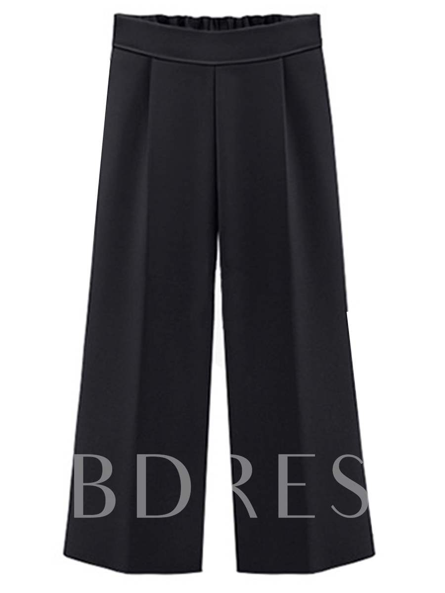 Buy Plus Size Loose Wide Legs High Waist Women's Ninth Pants, Plusee, Summer, 13167693 for $21.99 in TBDress store