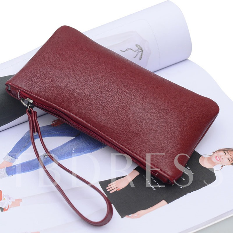 Leisure Solid Color Soft PU Women's Wallet