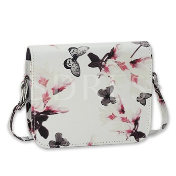 Vogue Style Butterfly Floral Design Cross Body