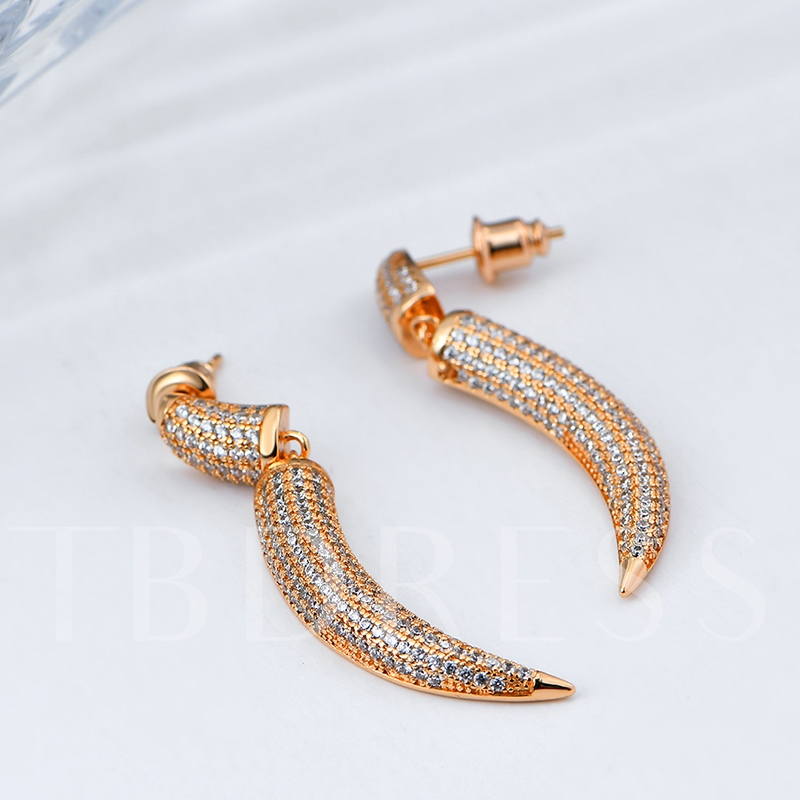 Shiny Full Drill Chillies Shaped Earrings