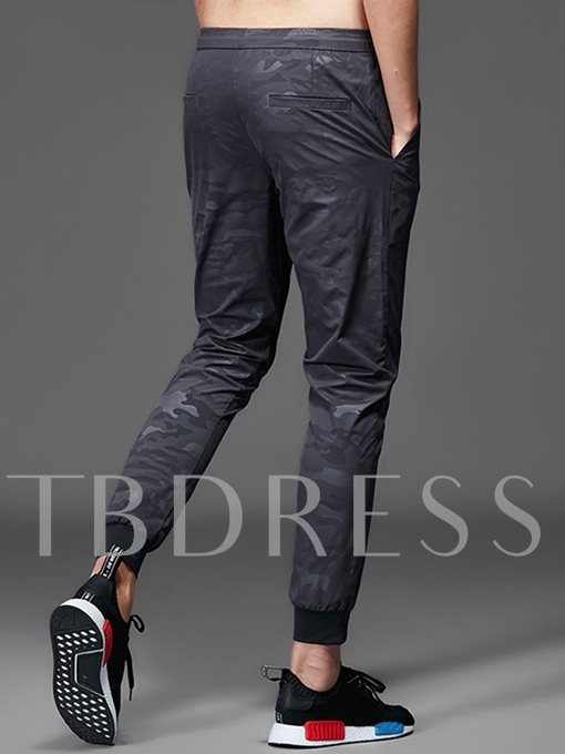 Lace-up Camouflage Quick Dry Men's Pencil Pants