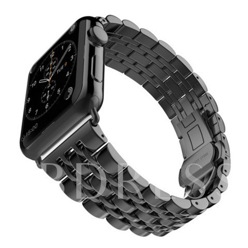 Apple Watch Stainless Steel Band,Butterfly Buckle Chain for Apple Watch Series 1/2