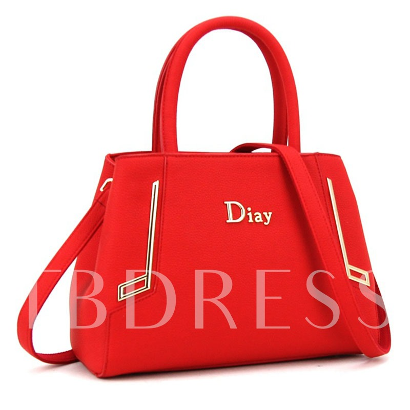 Trendy Style Metal Decoration PU Tote Bag