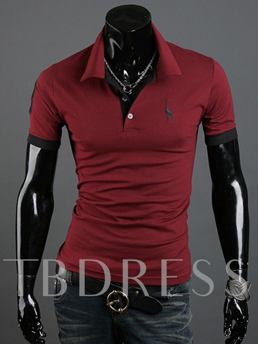 Plain Lapel Men's Polo Shirt