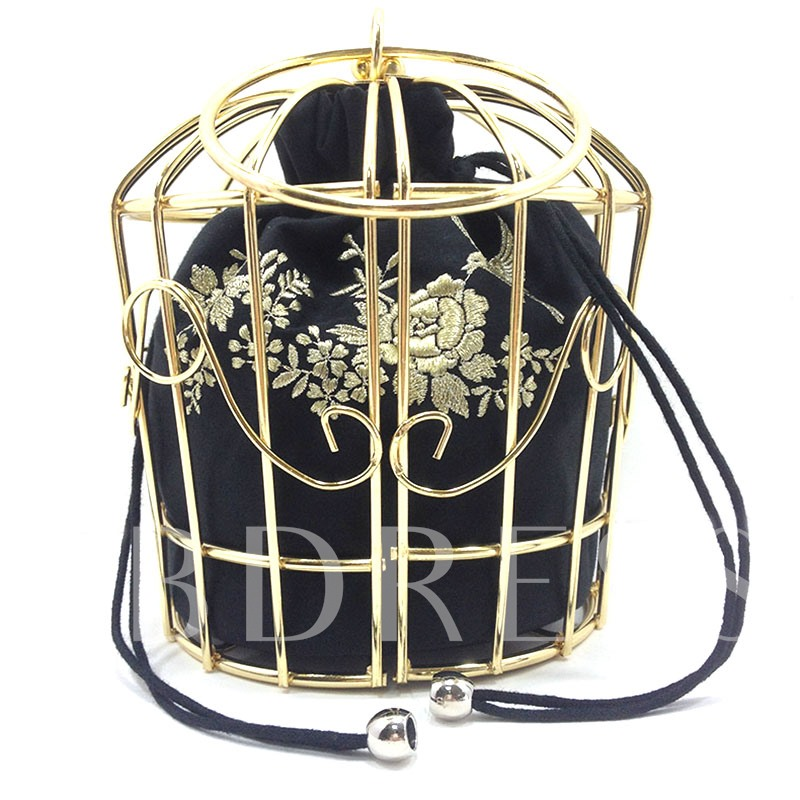 Creative Cage Design Bucket Shape Tote Bag
