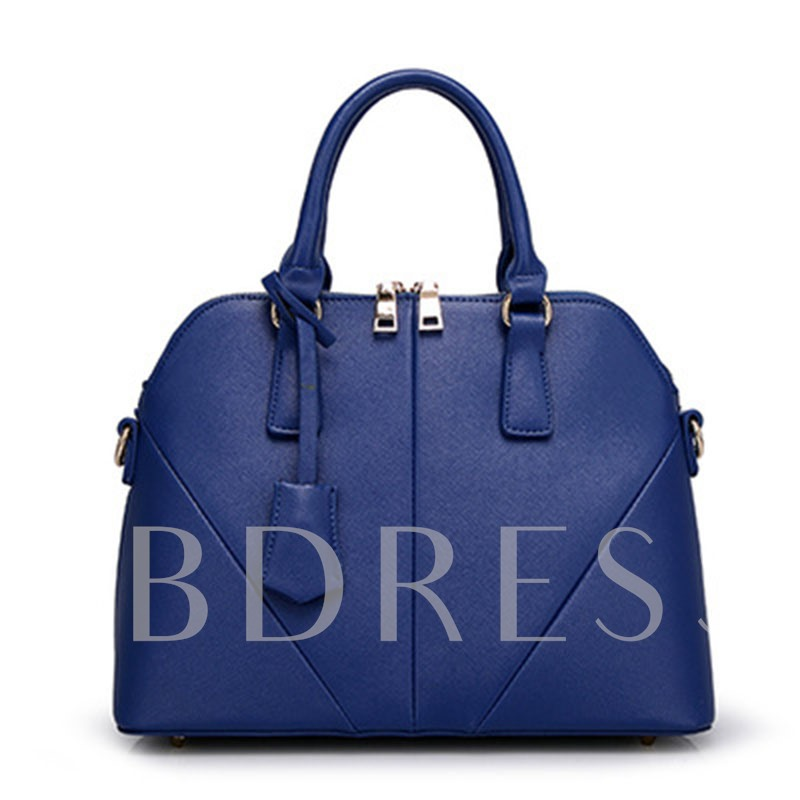 OL Style Splicing Shell Shape Tote Bag