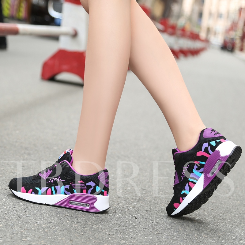 Color Block Platform Height Shoes for Women