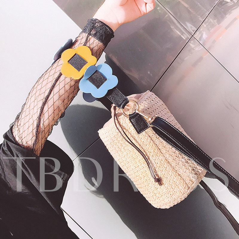 Korea Style Vertical Shape Weaving Cross Body