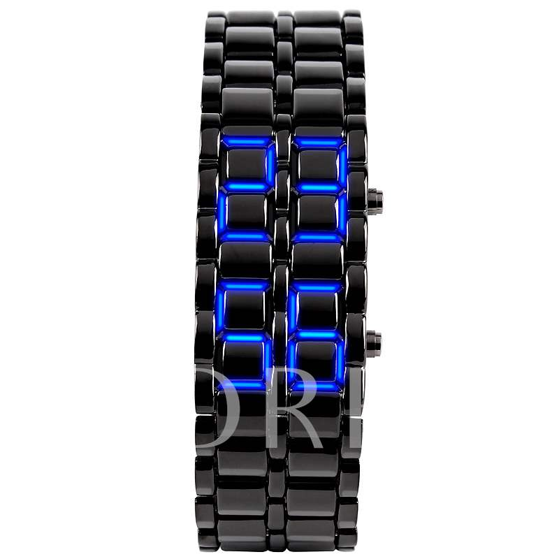 LED Luminous Vintage Glass Digital Digital Display Men's Watches