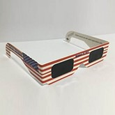 American Flag Solar Eclipse Glasses(Only White Color)