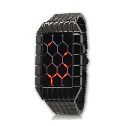Creative Plaid LED Men's Watches