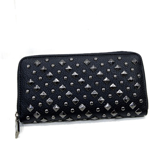 Personality Rivets Decoration Zipper Wallet