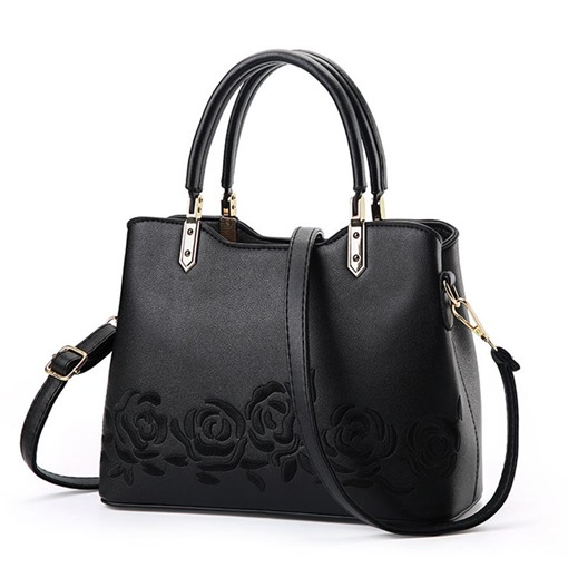 Classical Floral Embroidery Women's Tote Bag