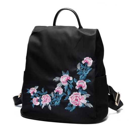 Chic Embroidery Waterproof Oxford Backpack