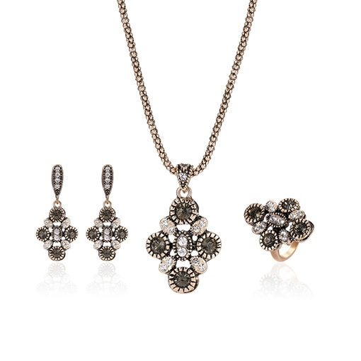 Popcorn Chain Prismatic Rhinestone Alloy Jewelry Sets