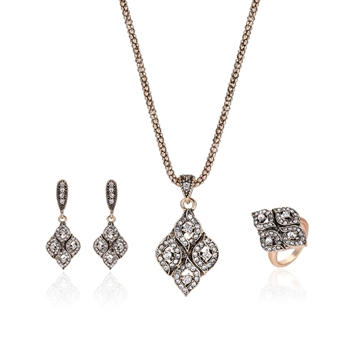 Diamante Prismatic Joining Vintage Jewelry Sets