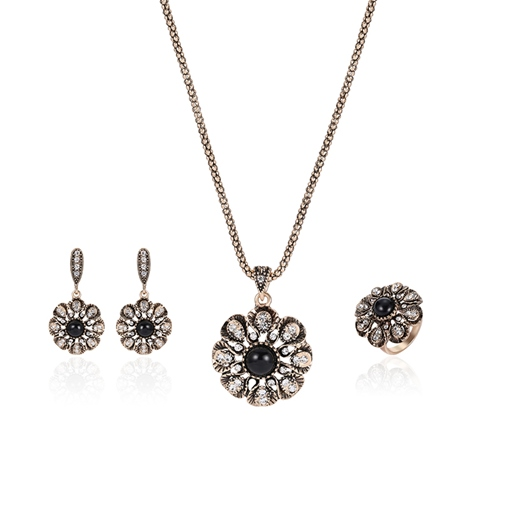 Diamante Flower Shaped Joining Jewelry Sets