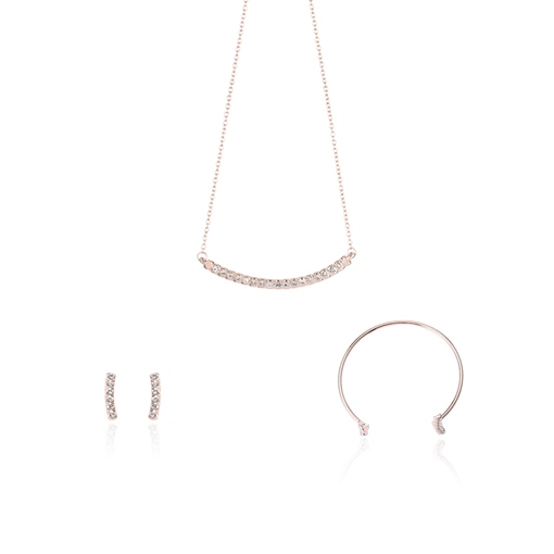 Simple Diamante Arc Shaped Jewelry Sets