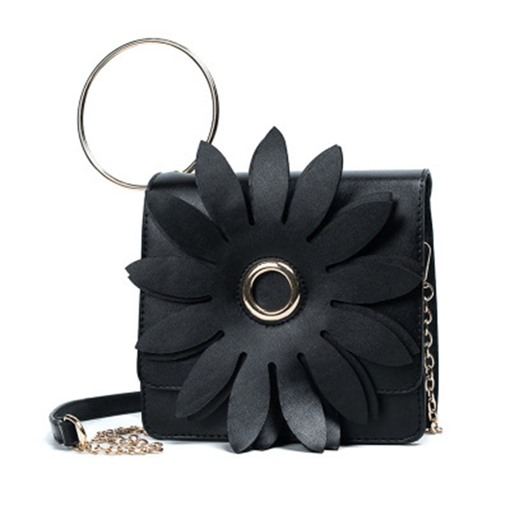 Large Floral Ring Decoration Cross Body