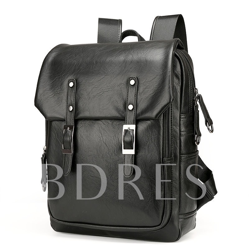 Stylish Solid Color Men's Travel Backpack