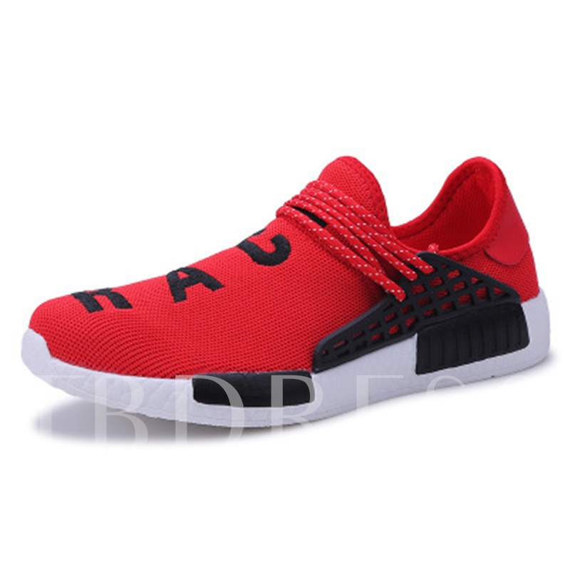 Mesh Breathable Letter Printing Strap Front Slip-On Men's Casual Shoes