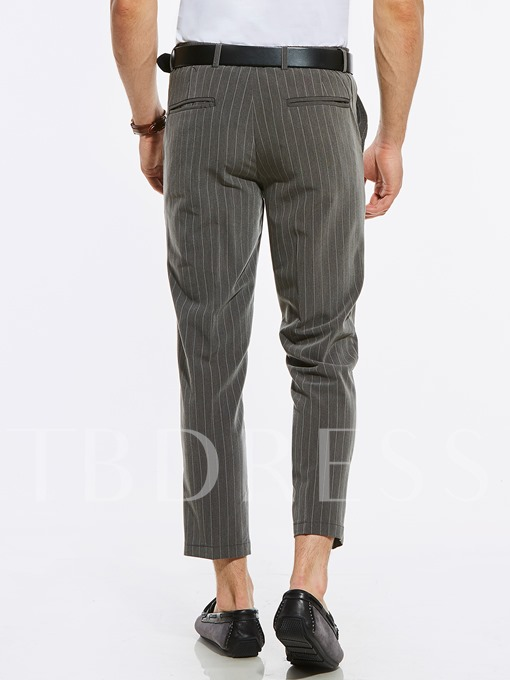 Ankle Length Stripe Men's Vogue Pants