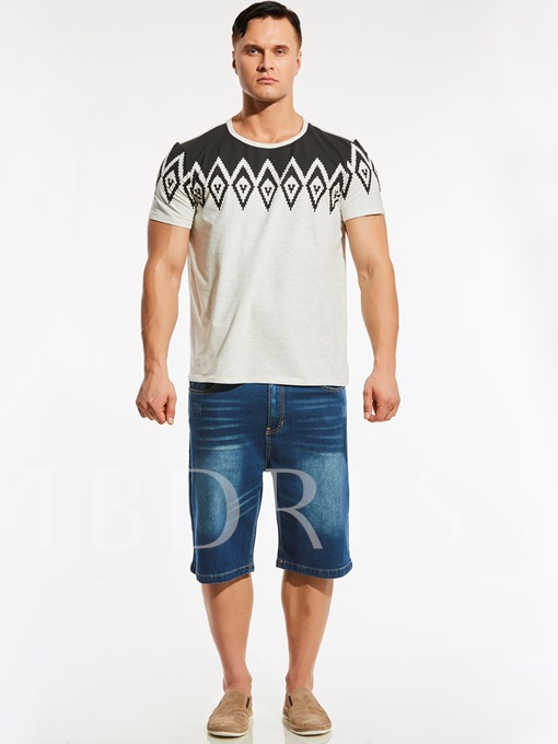 Plus-Size Ethnic Printed Vogue Loose Men's T-Shirt