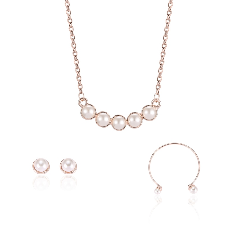 Simple Pearl Link Alloy Jewelry Sets