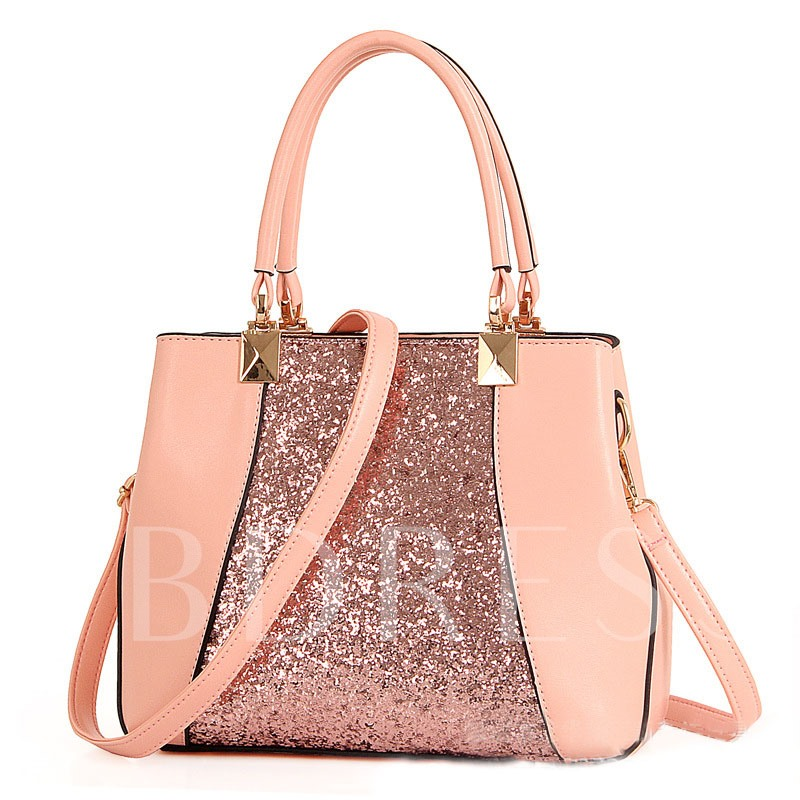 Trendy Style Splicing Sequins Design Tote Bag