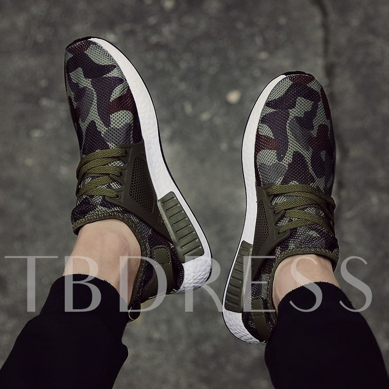 Camouflage Canvas Running Men's Sneakers