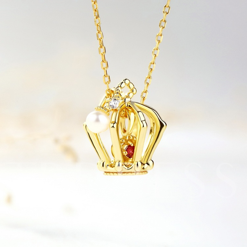 Crown Type Tourmaline S925 Necklace