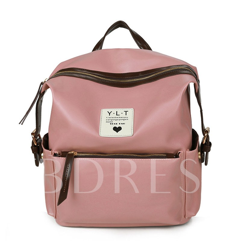 Retro Preppy Style Tassel Pendant Backpack