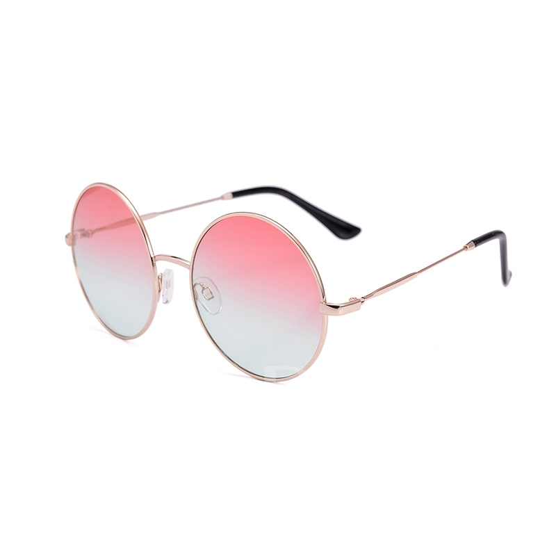Round Gradient Alloy Frame Sunglasses