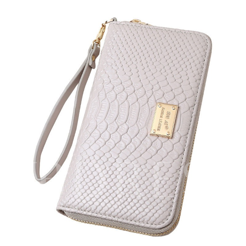 Long Style Crocodile Print Women's Wallet