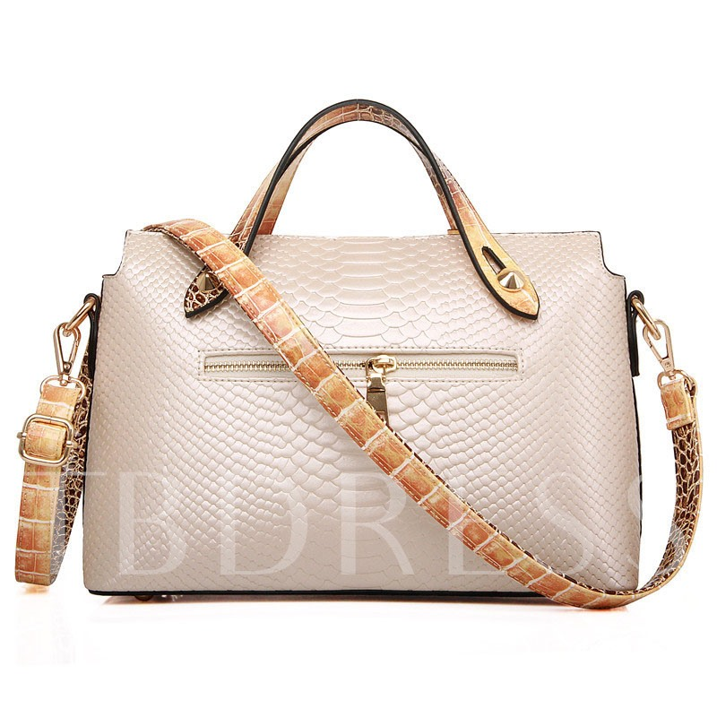 Unique Snake Grain Embossing PU Tote Bag