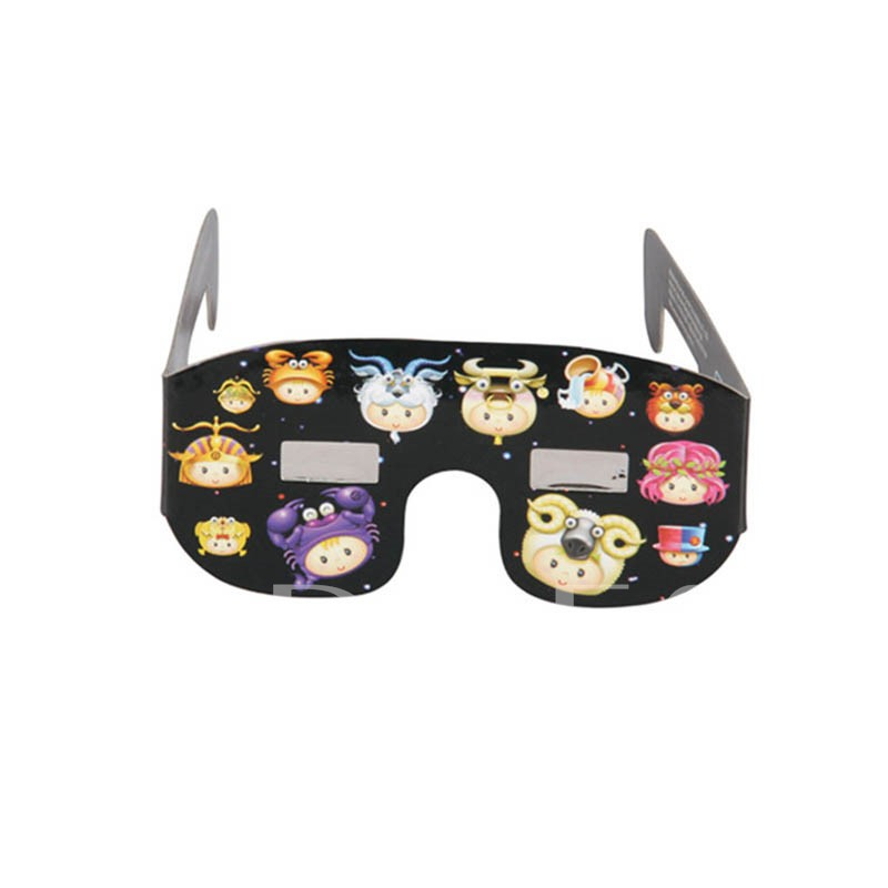 Cartoon Baader AstroSolar Solar Eclipse Glasses(Only White Color)