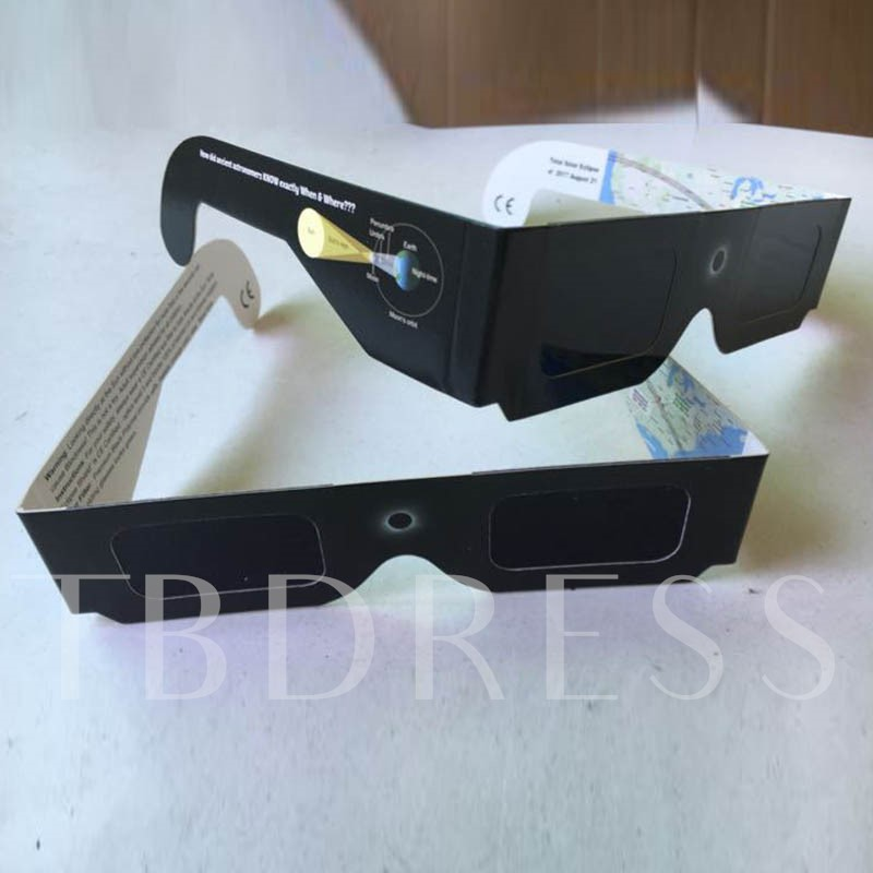Paper Framework Solar Eclipse Glasses(Only White Color)