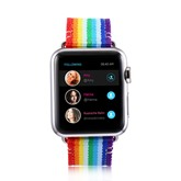 Apple Watch Band,38mm/42mm Rainbow Colors Smartwatch Strap Wearable Tech